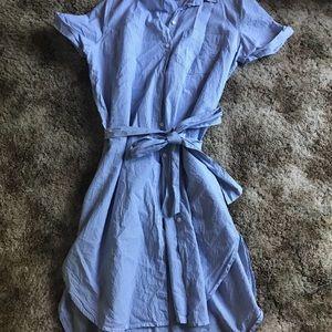 Button Down Tie Dress